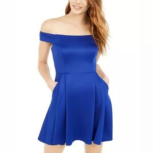 NWT Teeze Me  Off-The-Shoulder Fit & Flare Dress